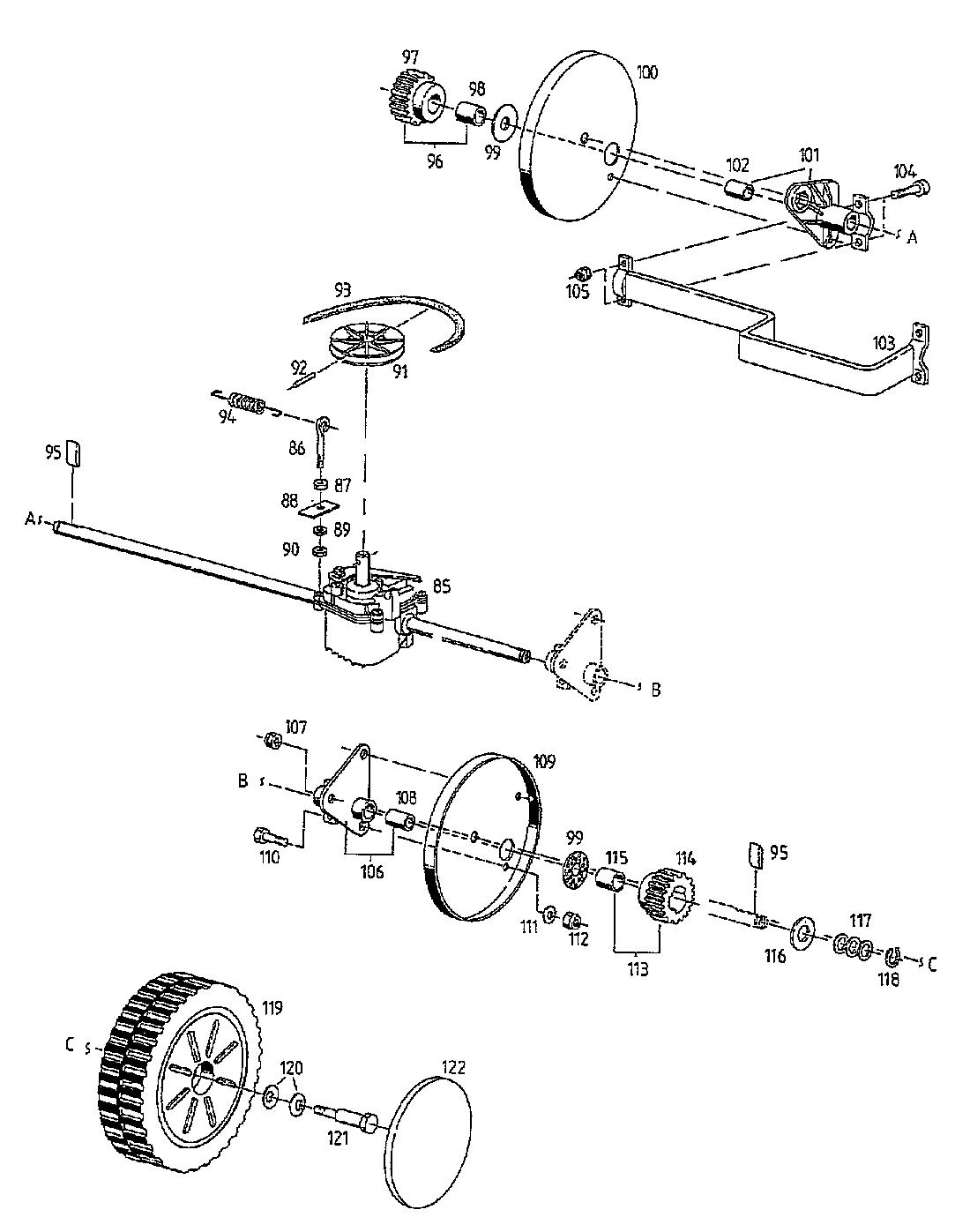 Getriebe Rader 02815 05 1997 Hb 48 Rel Motormaher Mit Antrieb Gutbrod
