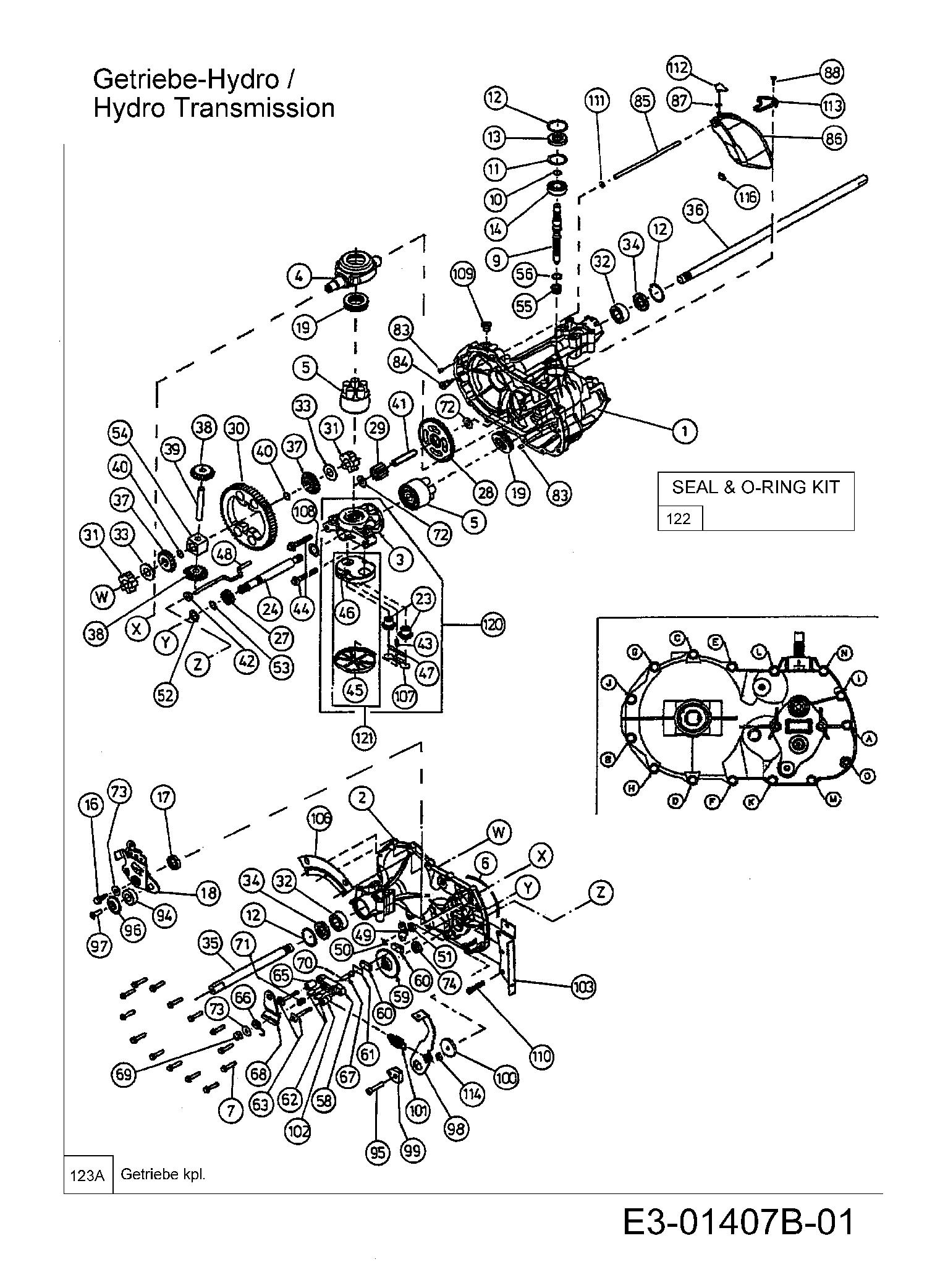 Hydrostat 13bi516e690 2003 Glx 92 Rhlk Rasentraktoren Gutbrod
