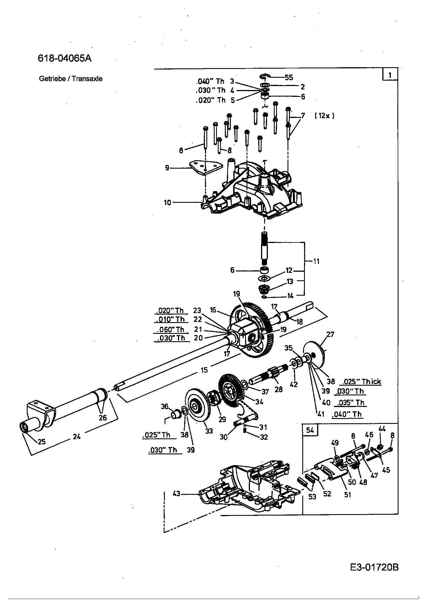 Getriebe 13bv506n690 2005 Glx 105 Ra Rasentraktoren Gutbrod